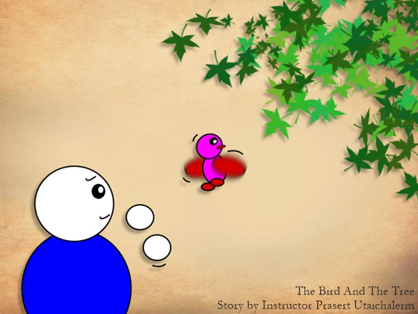 Mindfulness – (Cartoon) The Bird and The Tree